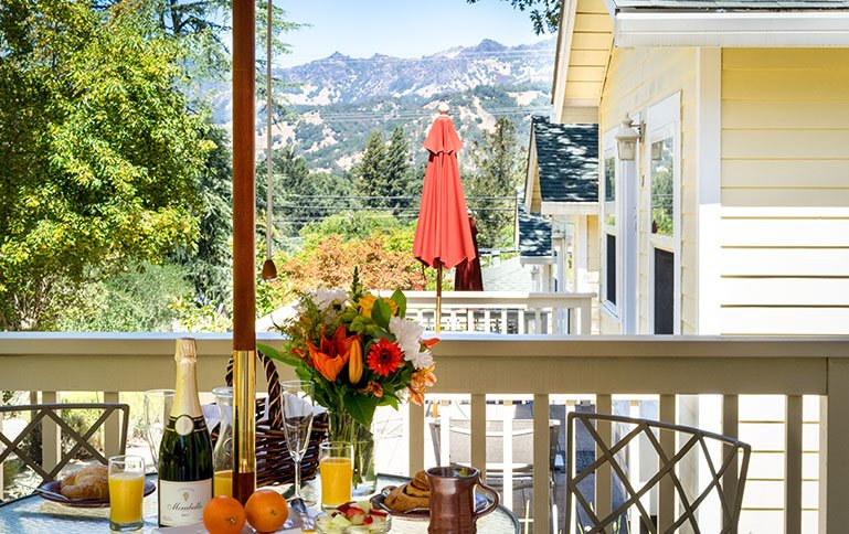 Private decks with stunning views